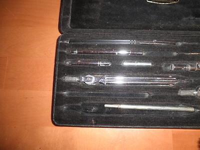 Juego De Compases Y Tiralineas Vintage Riefler Alemanes Germany 27X11X2 Cms. C36 6