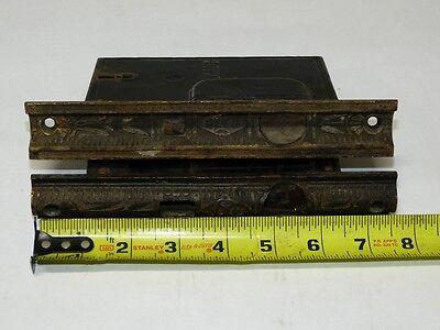 1870's Cast Brass & Iron Mallory Wheeler Pocket Door Mortise Locks & Escutcheon 5
