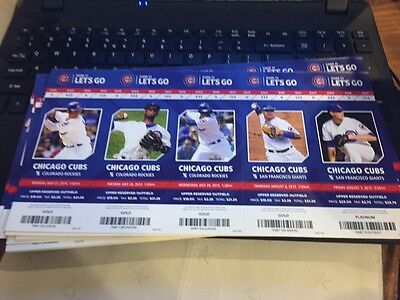 2015 Chicago Cubs Season Ticket Stub Pick Your Game Bryant Arrieta Rizzo Soler 2 2