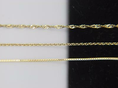 Solid 10k yellow gold Chain Necklace Box chain Rope chain Cable chain 10kt gold 2