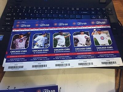 2015 Chicago Cubs Season Ticket Stub Pick Your Game Bryant Arrieta Rizzo Soler 5