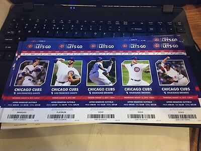 2015 Chicago Cubs Season Ticket Stub Pick Your Game Bryant Arrieta Rizzo Soler 2 3