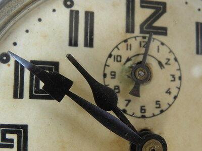 antique old alarm clock japy vintage antique Deco century uhr 9
