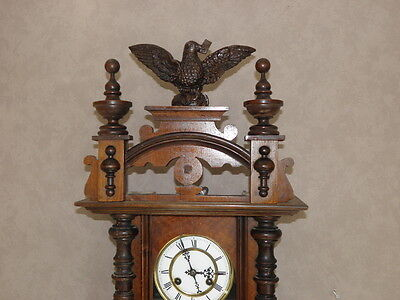 antique Clock Vienna Regulator German Wall Clock Chime horloge circa old d.r p 6