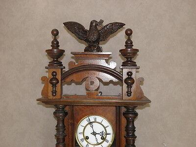 antique Clock Vienna Regulator German Wall Clock Chime horloge circa old d.r p 6