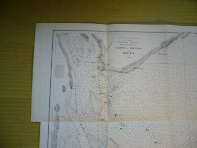 Vintage Hydrographic Plan Of Port & Barra Of Beira Mozambique 1930 VGC