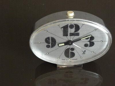 vintage clock alarm jaz retro desk  Art Deco design 70 FASHION pop Mechanics uhr 4