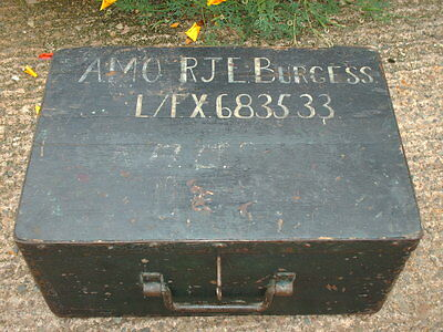 Antique Rustic Strong  Box / Military Chest 4