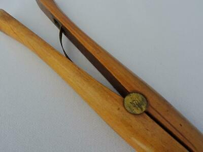 Antique Glove Stretchers Treen Edwardian Large Boxwood Brass Dent and Co c1910 7