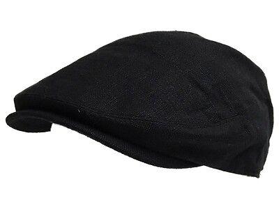 5ab330b34ad7 ... G&H 6 PENCE summer hat farmer flat cap classic English grandad flat cap  linen 3
