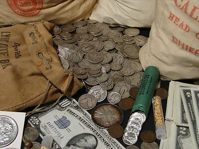 ☆Estate Sale Old Us Coins Lot  ☆ Gold Silver Bullion☆ Currency☆ 50 Years Old+ 8