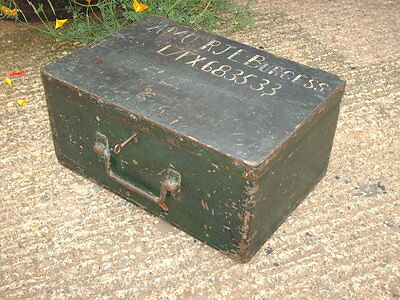 Antique Rustic Strong  Box / Military Chest 2