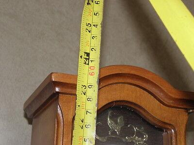 Clock Chime Longcase  Musical horloge retro vintage pendule polychromatic wood 8