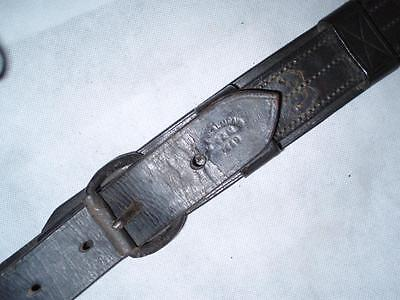 Antique Heavy Leather Cavalry Military Horse Crupper. 1889.