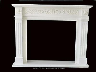Beautiful Hand Carved Marble European Design Marble Figural Fireplace Mantel Z5 5