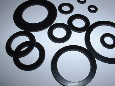 2Mm Thick Black Epdm Rubber Flat Round Ring Washer Seal Gaskets 12Mm - 80Mm Od 2