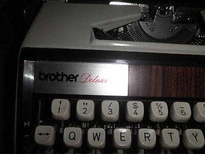 Maquina De Escribir Vintage Brother De Luxe 1350 Automatic Repeat Spacer  Funda 5