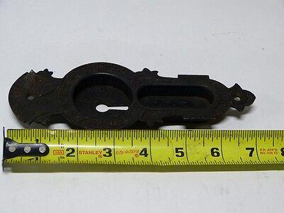 1870's Cast Brass & Iron Mallory Wheeler Pocket Door Mortise Locks & Escutcheon 4