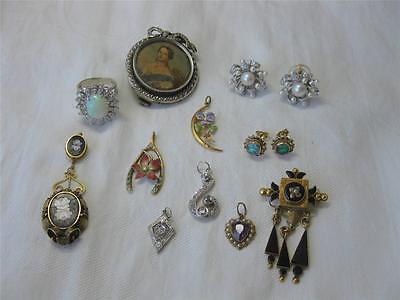 Lily of Valley Bird Brooch Victorian Aesthetic Movement Diamond 16K c1880 Rare! 12