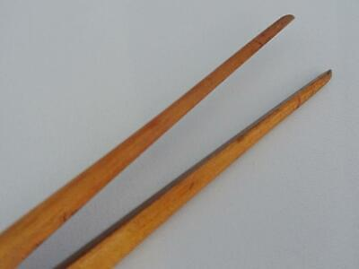 Antique Glove Stretchers Treen Edwardian Large Boxwood Brass Dent and Co c1910 8