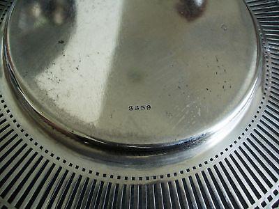 American sterling silver by Watson - pierced rim plate 7
