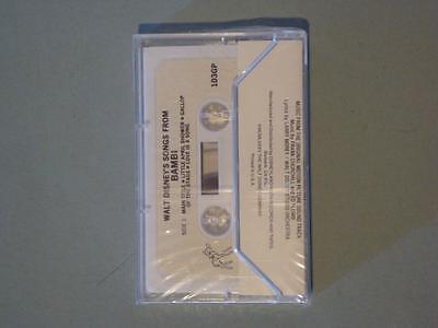 New Walt Disney Songs from Bambi Cassette Tape NIB Sealed 1975 Disneyland