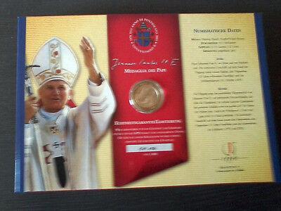 Silberbriefmarke Medaille 25 Jahre Papst Johannes Paul Ii Im Sammelalbum