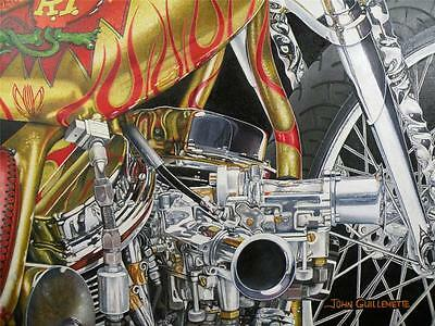 Indian Larry Rat Fink Daddy-O Bike Signed Ltd Edition Motorcycle Art Print by JG 3