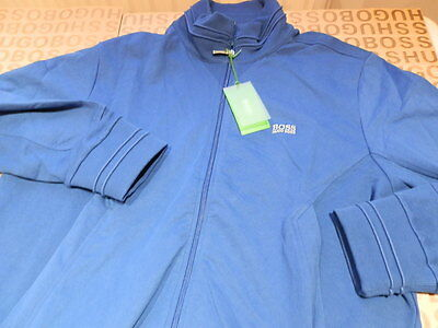 35c85b84 ... New Hugo Boss Mens Blue Sports Jumper Tracksuit Coat Jacket Track Suit  Top Large 2