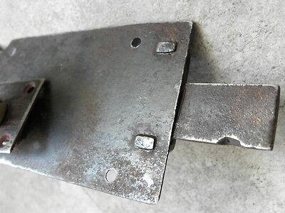 Antique Wrought Iron Sliding Bolt/Lock Plank Door ornate Latch Lock STEEL retro 11