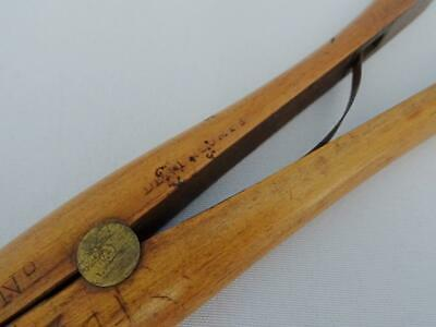 Antique Glove Stretchers Treen Edwardian Large Boxwood Brass Dent and Co c1910 5