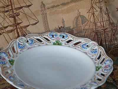 selten: BINDENSCHILD 1842 Biedermeier Alt Wien Porzellan Zier- Teller handbemalt