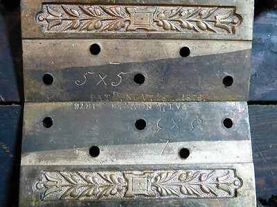 Matched Pair Circa 1876 Cast Bronze  Hinges By Corbin Left Hand 7