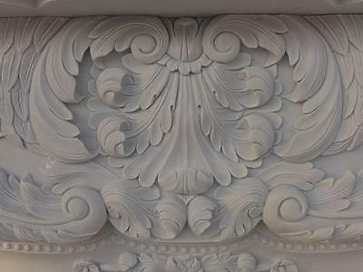 Beautiful Hand Carved Marble European Design Marble Figural Fireplace Mantel Z6 4