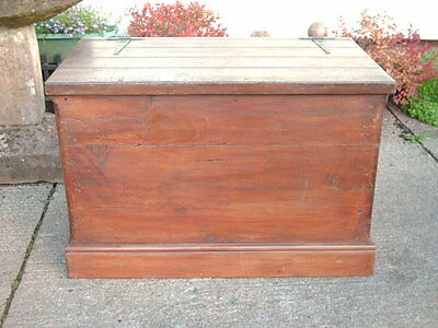Large Antique  Pine  Chest / Bedding  Box 6