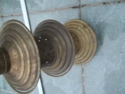 Rohr Metall Pumpe alt Antiquität Stab mit Löcher Holzboden Holzgriff rund Sammle 7