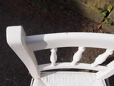 A Very Sweet Little Antique Painted Edwardian Era Childs Chair Shabby Chic Style 3