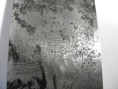 Alte Druckplatte  Sulz a.N. Kurhaus Erholungsheim Krankenhaus - ca. 1940er Jahre 2