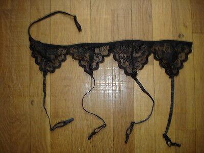 1 Porte- jarretelle noir dentelle fleur taille réglable sexy gay inter 6