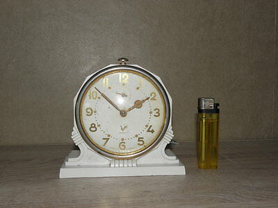 vintage clock alarm blangy retro desk  Art Deco design  Mechanics uhr 2