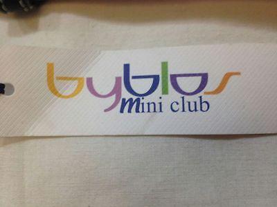 Byblos Mini club - cintura bianca e nera con scritta Byblos ripetuta - 18 mesi