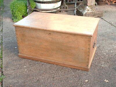Victorian  Pine   Blanket  Box / Chest 6