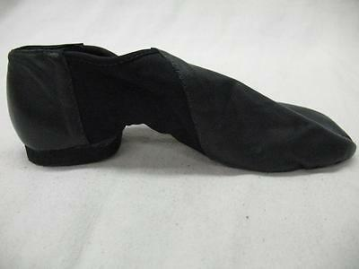 NEW So Danca Split Sole Jazz Slip On Black Leather Bootee Ladies Shoes 3-14
