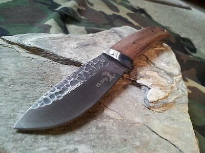 "Elk Ridge Rocky Grooved Full Tang Wood Stainless Fixed Blade Knife 8"" 268 2"