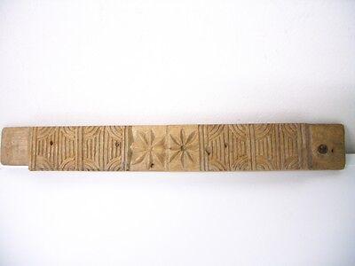 Seltenes altes Holzmodel, Backmodel, Springerlemodel Biedermeier um 1820 6