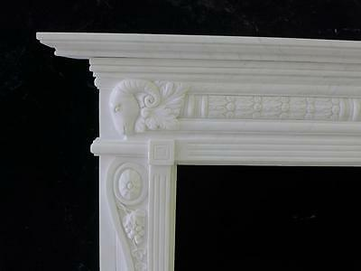 Beautiful Hand Carved Marble European Design Marble Figural Fireplace Mantel Z10 4