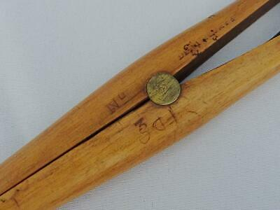 Antique Glove Stretchers Treen Edwardian Large Boxwood Brass Dent and Co c1910 4