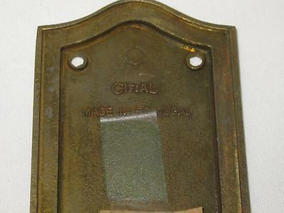 Vintage Front and Back Brass Door Plate Set 3