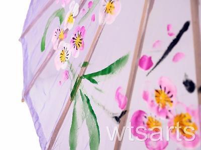Medium Chinese Floral Parasol Geisha Umbrella - 83cm Dia 8