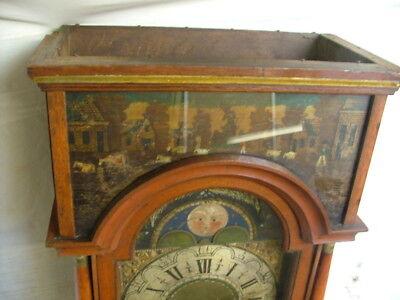 FRIESLAND DUTCH WALL CLOCK. RARE ANTIQUE c1790 5